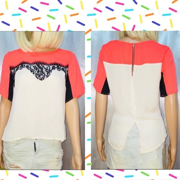 BUNDLE ONLY Color block blouse